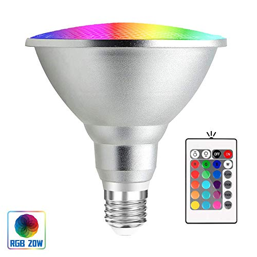 Bonlux 20W Bombilla LED RGB E27 Par38 Impermeable