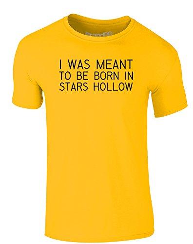 Brand88 - Born in Stars Hollow, Erwachsene Gedrucktes T-Shirt Gänseblümchen-Gelb/Schwarz