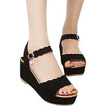 negozi popolari scegli genuino design raffinato sandali donna con zeppa - Amazon.it