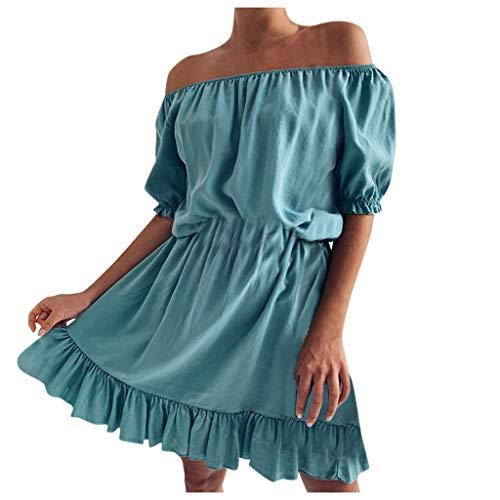 Ballett Kostüm Ausleihen - TEBAISE Schulterfrei Kleider Damen Elegant Langarm