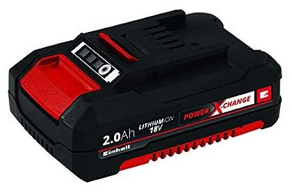 Einhell 4511395 Batería de Repuesto de 2, 18 V, Negro, Rojo, 2.0 Ah, tiempo de carga: 30 minutos