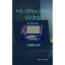 MS Office 2016 - Mac: Tabellen