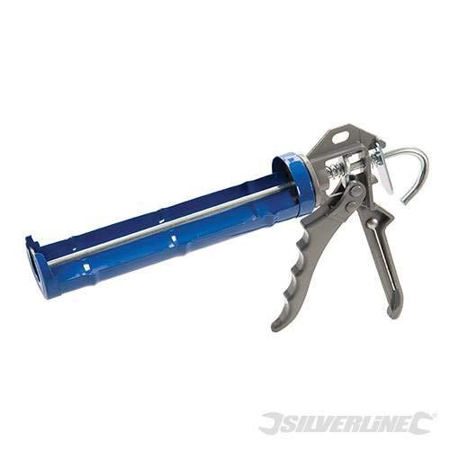 negro Pistola para cartuchos de sellador de juntas calafateo, pistola de silicona, tubos est/ándar de 310/ml o m/ás peque/ños, potente, profesional y duradero