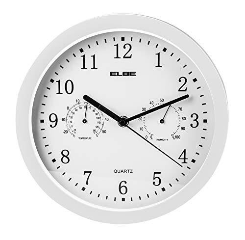 Elbe RP-2005-B - Reloj pared termómetro higrómetro