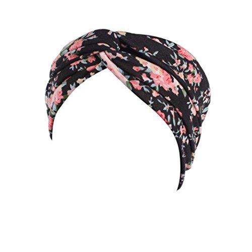 Muium New Garden Floral Sport Kopf Warp Frauen Damen Elastisches Haarband Stirnband - Leder-hut-frauen