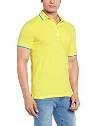 United Colors of Benetton Men's Cotton Polo (17P3069J3119I_Blazing Yellow_S)