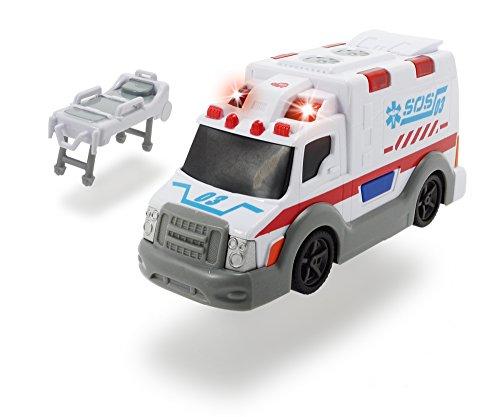 Dickie Toys 203302004 - Action Series Ambulance, Krankenwagen inklusive Batterien, 15 cm