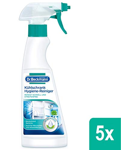 5x Dr. Beckmann Kühlschrank Hygiene-Reiniger mit Bio-Alkohol 250 ml