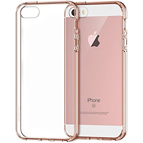 iPhone SE Funda, JETech Apple iPhone 5 5s SE Funda Bumper Funda de Amortiguación y Anti-Arañazos Espalda Case Cover para Apple iPhone 5 5S SE (Rosa de Oro) -