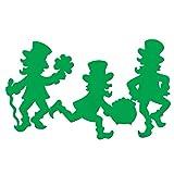 Irische Leprechaun Silhouetten Ausschnitte. 12er Set.