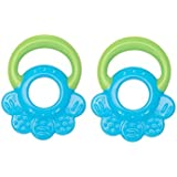 Mee Mee Multi Textured Silicone Teether, Blue/Green (Pack of 2)