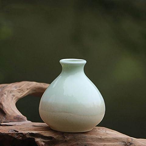 Simple Maison Décorations Ornements Européens Créatifs D'Amérique D' Mini Céramique Vases Vases De Fleurs Porte Céladon Artisanat Cadeaux,D