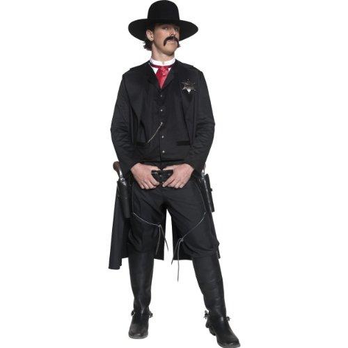 Smiffys Karneval Herren Kostüm Western Sheriff Wilder Westen Cowboy Gr.M