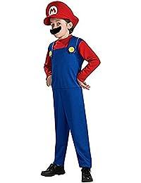 Rosfajiama Disfraz de Super Mario para Hombre Clásico Brothers Boys Disfraz  de Halloween para Adulto para 762278ddea0