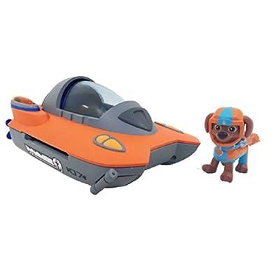Paw Patrol Basic Vehicle Sea Patrol Zuma vehículo de juguete - vehículos de juguete (Gris, Naranja, 3 año(s), Niño/niña, Interior, 1 pieza(s), 215,9 mm) de Spin Master
