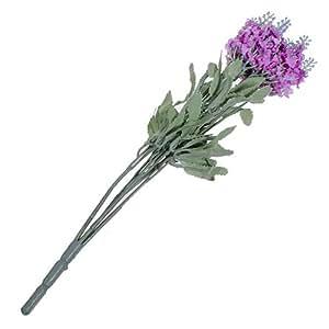 Artificiali lavanda seta mazzo di fiori seta fiori casa decorazione Wedding Party, Rosarot, taglia unica