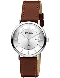 Orphelia Damen-Armbanduhr Tribute Analog Quarz Leder 11602