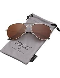 SOJOS Klassische Aviator Polarisiert Sonnenbrille Verspiegelt UV400 Schützen Linse SJ1054 mit Gold Rahmen/Blau Linse A9Ia6WC541