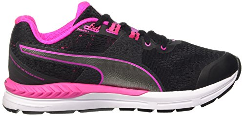 Puma Speed 600 Ignite Wn Scarpa da Running Nero/Pink Glo/Aged Silver