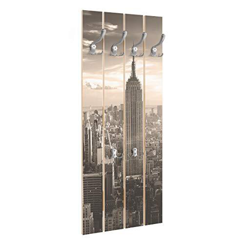 Bilderwelten Perchero Madera - Manhattan Skyline -