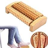 Hölzern Fuß Massage Roller,Massagegerät Reflexzonenmassage Hangrui Ferse Massager für Plantar Fasciitis Heilen Spur Tiefengewebe Akupressur Fuß & Ferse Massager,15cm * 7cm * 3cm