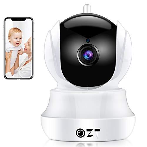 QZT Cámara IP 720P HD, Cámara de Vigilancia WiFi Interior, Casa Seguridad...