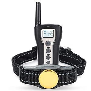 PetInn Collier de Dressage pour Chien Etanche IP67 Rechargeable avec Mode Bip/Vibration/Choc/Bouton Séparé/Protection Contre Le Choc Portée 500m pour Chien de Toute Taille