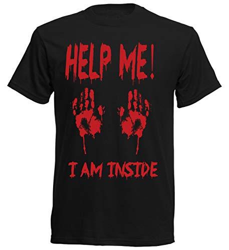 aprom T-Shirt Help Me Zombie Blutige Hände xx60 - Geist Kostüm Streich