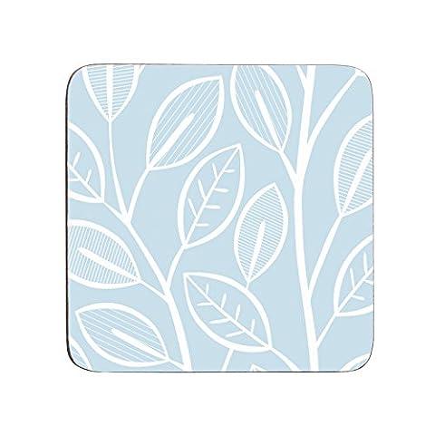 Premier Housewares Beech Coasters - Set of 4, Blue