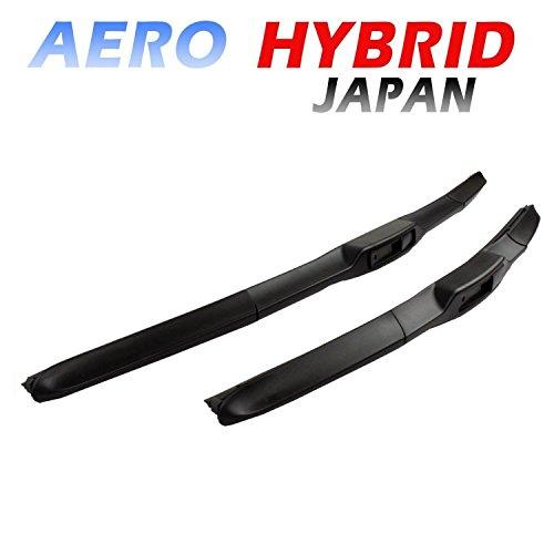 Preisvergleich Produktbild AERO HYBRID TOP QULITÄT 500 / 450 Scheibenwischer Hakenbefestigung - BLACK LINE EDITION NEU