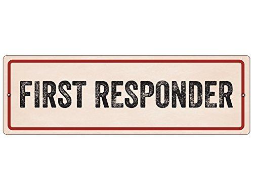 Kunststoffschild mit Saugnapf FIRST RESPONDER Hinweisschild Ersthelfer Notarzt
