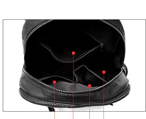 LAIDAYE Beiläufige Schulter Große Kapazität Wasserdichte Reisetasche Black