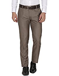 Routeen Grey Oxy Slim Fit Formal Trouser Pants For Men