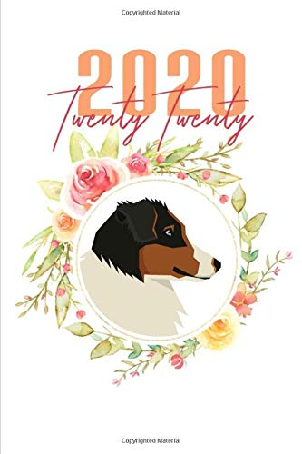 2020: Australian Shepherd Floral Daily Planner Diary