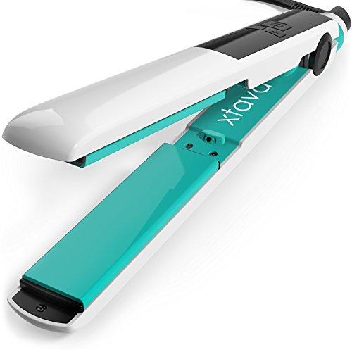 xtava Goddess Haarglätter mit Keramik Turmalin-Platten und LCD-Display (Pomona) - Schnelle -Aufheitz -Technologie für schnelle , seidige Strähnen (Türkis)