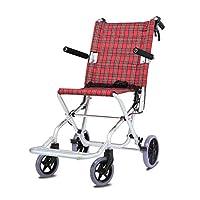 Wheelchair Foldable wheelchair Aluminum alloy wheelchair Elderly disabled wheelchair Airplane travel wheelchair