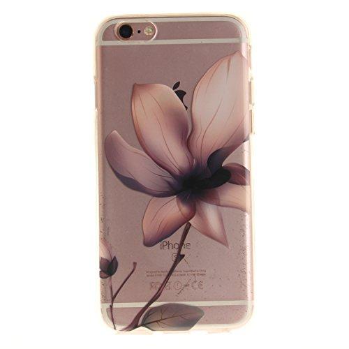 Meet de Slim de Protection Téléphone Case pour Apple iPhone 6 6S, Apple iPhone 6 6S Bumper Case Coque, Apple iPhone 6 6S Slim TPU Transparent Silicone Housse Etui pour Apple iPhone 6 6S - violet lotus