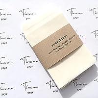 70 x Throw Me Mini Stickers + Small Peel and Seal Glassine Envelopes DIY Wedding Confetti Packs [White - XOQW1]