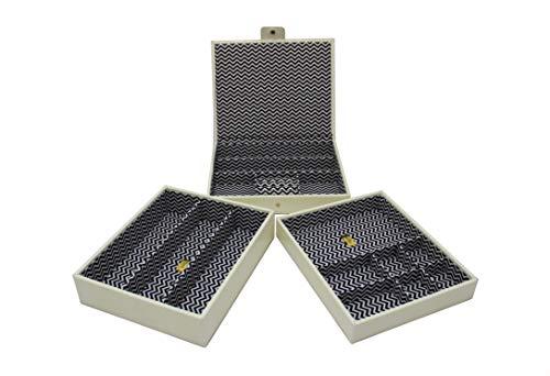 Cordays - Etalage à Bijoux Ensemble de 3 Etages Empilables Fait Main en Qualité Premium : Edition Limitée Collection Fashion. Crème CDL-10063