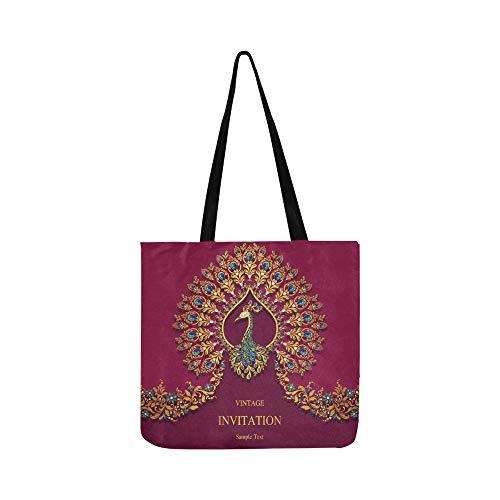 Hochzeit Einladungskarte Abstrakt Islam Leinwand Tote Handtasche Schultertasche Crossbody Taschen Geldbörsen Für Männer Und Frauen Einkaufstasche