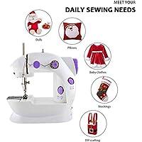 HKWEAVES Mini Portable Electric Home Sewing Machine (White)