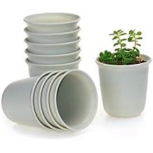 T4U Lungo-Tondo Plastica Vaso di Fiori Pianta