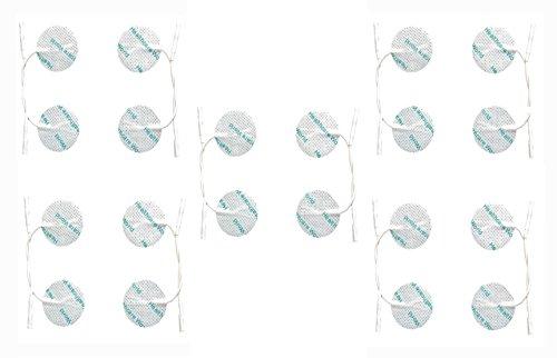 Healthcare World  de la Ronda 20 Tens electrodos de desfibrilación Tens Almohadillas para el TPN Tenscare NeuroTrac máquinas Flexi Tens