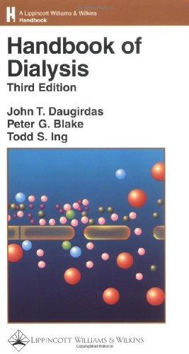 Handbook of Dialysis (Lippincott Williams & Wilkins Handbook Series) by John T. Daugirdas MD (2000-12-15)