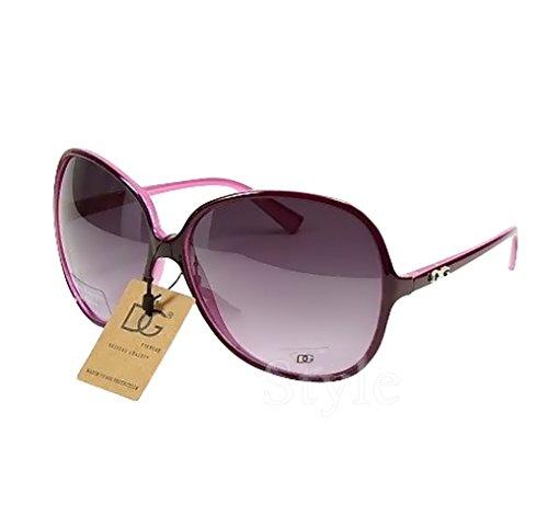 DG Eyewear ® Designer Sonnenbrille 2017 - UV400 (UVA & UVB) - übergroße Mode (Sonnenbrillen Damen) ...