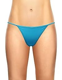 Braga tanga sexy de algodón para mujer de Cotton Whisper, paquete 4 unidades, el color puede variar