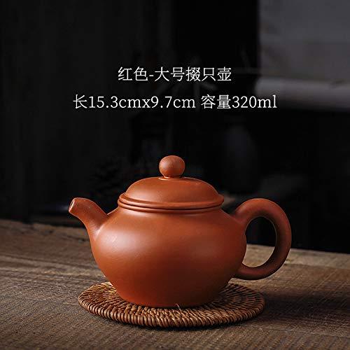 beidexiaowu Lila Sand West Sishi Topf antike Kanne Tee-Set Reine Hand große Haushaltsfilter Keramik Teekanne einzelne Kanne großen roten Punkt Krug (320 ml) - Keramik Große Tee-kanne