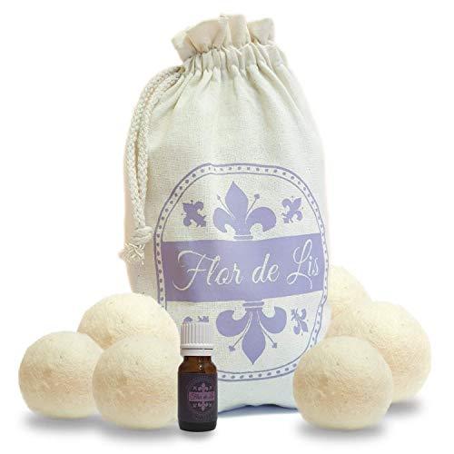 Stellen Sie Parfümballen-Trockner mit Lavendel-ätherischem Öl, Wollballen 100% natürlicher Trocknerball-Funktions-Weichmacher-Parfüm-Leinenwaschmaschinen-Trockner A +++ ein -