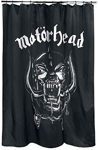 Motörhead Duschvorhang Shower Curtain INKL. Ringen für den Vorhang Cortina de Ducha, poliéster, Negro, 180 x 200 x 0.1 cm