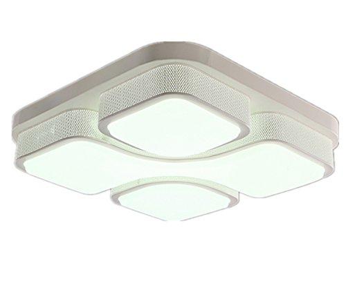 MCTECH moderna plafoniera 48W energia lampada di pannello della luce di soffitto del LED risparmio luce dipinti su lampada da parete salotto bianco cornice dello schermo in acrilico Trafitto Design bianco freddo 530 * 530 * 130 mm (bianco freddo)
